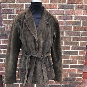 Bb Dakota Suede Jacket Large Women's